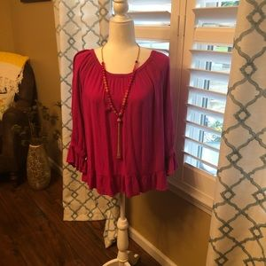 💕Pretty in Pink INC Blouse